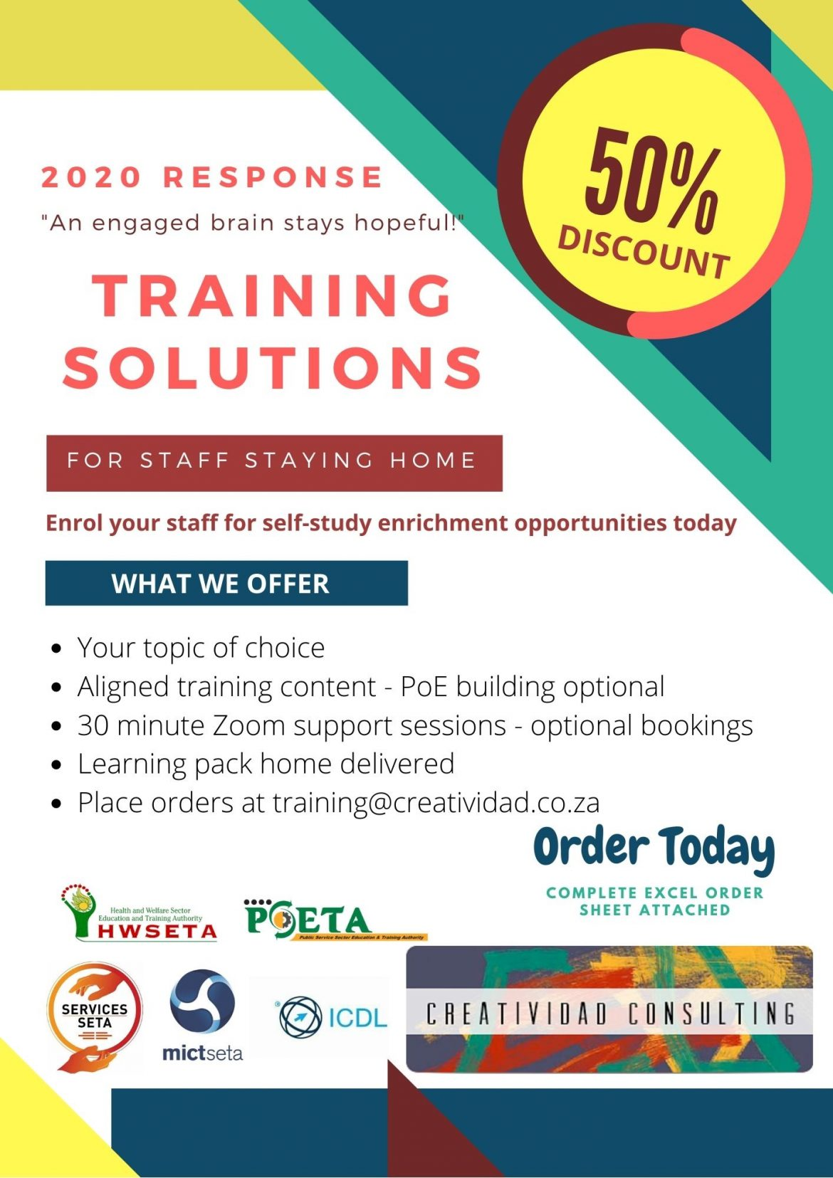 Discounted Training Topics 2020